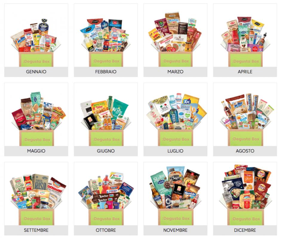 DegustaBox pacco alimentari sorpresa esclusivi offerta