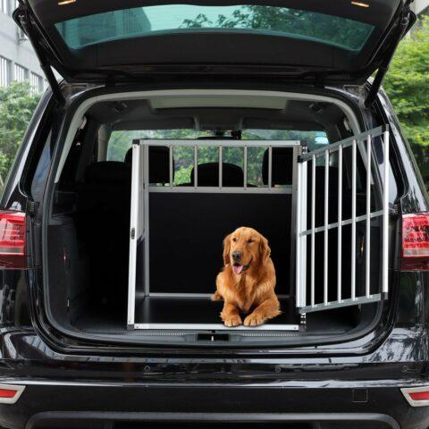Vendita CADOCA Box per trasporto cani L alluminio 90x66x72cm in offerta web