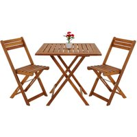 Vendita Casaria Set Sedie con Tavolo da balcone legno acacia in offerta online