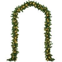 Vendita Casaria Ghirlanda di Natale 5m - 100LED in offerta online