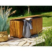 Vendita Casaria Baule da giardino legno acacia 117x50x59cm in offerta online