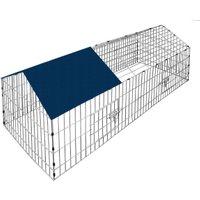Vendita CADOCA Recinto animali tetto blu metallo 180x75x75cm in offerta online