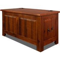 Vendita Casaria Baule in legno acacia 85x44x48cm in offerta online