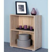 Vendita Casaria Libreria Vela 2 ripiani in legno quercia 77x60x31cm in offerta online