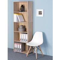 Vendita Casaria Libreria Vela 5 ripiani rovere 190x60x31cm in offerta online