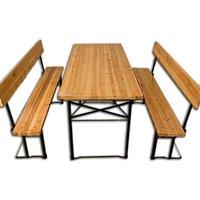 Vendita Casaria Birreria pieghevole con schienale e tavolino largo 70cm 3 pezzi in ... in offerta online