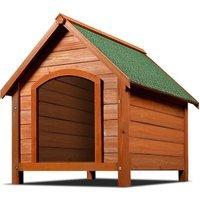 Vendita CADOCA Cuccia per cane con tetto in legno 82x72x85cm in offerta online