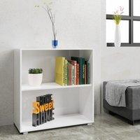 Vendita Casaria Libreria Vela 2 ripiani bianco 77x60x31cm in offerta online
