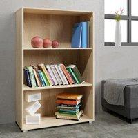 Vendita Casaria Libreria Vela 3 ripiani in legno quercia 115x60x31cm in offerta online