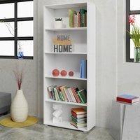 Vendita Casaria Libreria Vela 5 ripiani bianco 190x60x31cm in offerta online