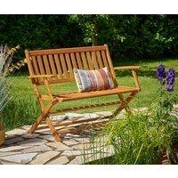 Vendita Casaria Panchina da giardino legno eucalipto 120x55x90cm - Certificato FSC in offerta online