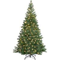 Vendita Casaria Künstlicher Weihnachtsbaum 150cm mit Lichterkette in offerta online