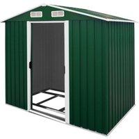 Vendita - Kein Hersteller - Capanno degli attrezzi verde metallo 210x132x186cm in offerta online