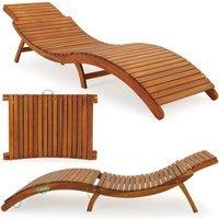 Vendita Casaria Lettino prendisole pieghevole in legno acacia - Certificato FSC® in offerta online