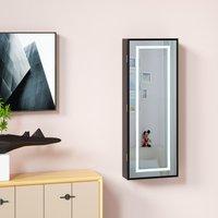 Vendita Casaria Armadio per Gioielli appendibile con specchio LED nero 31