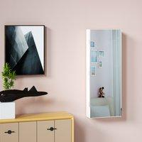 Vendita Casaria Armadio per Gioielli appendibile con specchio bainco 31