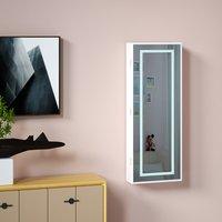 Vendita Casaria Armadio per Gioielli appendibile con specchio LED bainco 31