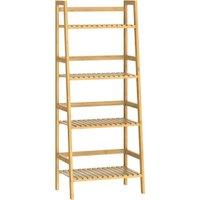 Vendita Casaria Libreria 4 ripiani in bambù 123x48x32cm in offerta online