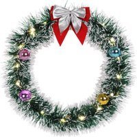 Vendita Casaria Ghirlanda di Natale LED argento Ø32cm in offerta online