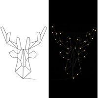 Vendita Casaria Figura Cervo LED metallo bianco con timer in offerta online