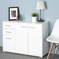 Vendita Casaria Credenza cassettiera bianca con 3 ante e 2 cassetti in offerta online