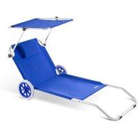 Vendita Casaria Lettino prendisole Kreta pieghevole con tetto e rotelle alluminio b... in offerta online